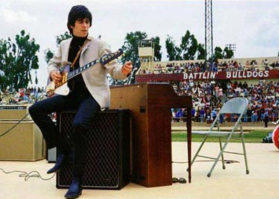 Early US tour, where the audiences were kept well away. Ratcliffe Stadium, Fresno, California, May 1965.