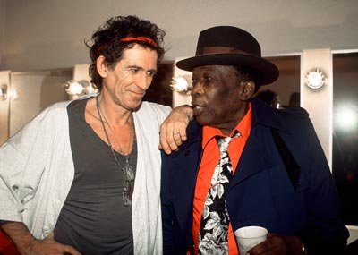 A visit from John Lee Hooker during the X-Pensive Winos tour, San Francisco, 1993.